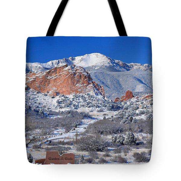 Beautiful Winter Garden Of The Gods Tote Bag by John Hoffman