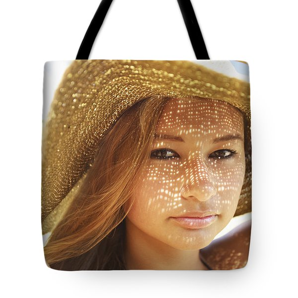 Beautiful Woman At The Beach Tote Bag by Kicka Witte