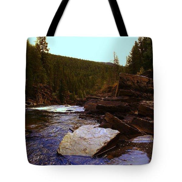 Beautiful Yak River Montana Tote Bag