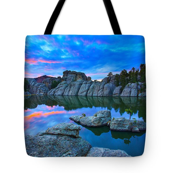 Tote Bag featuring the photograph Beauty After Dark by Kadek Susanto