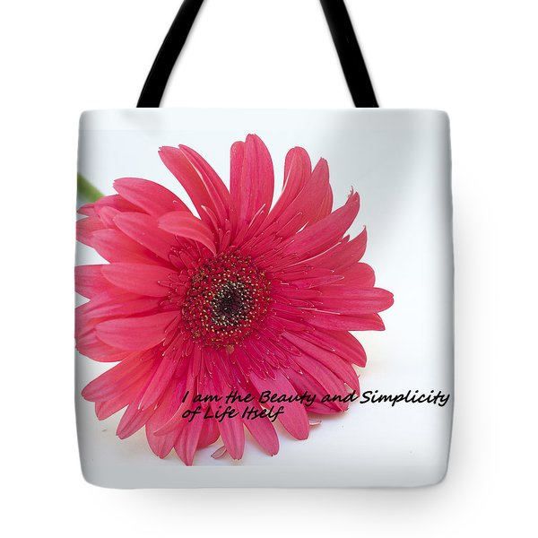 Beauty And Simplicity Tote Bag