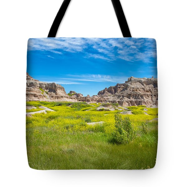Tote Bag featuring the photograph Beauty And The Badlands by John M Bailey