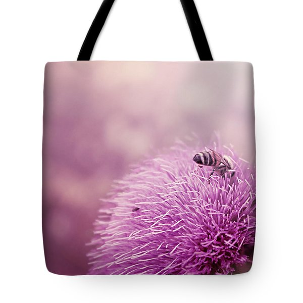 Beauty And The Bee Tote Bag by Trish Mistric