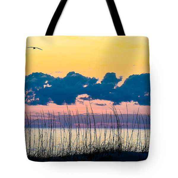 Beauty And The Birds Tote Bag by Mary Ward