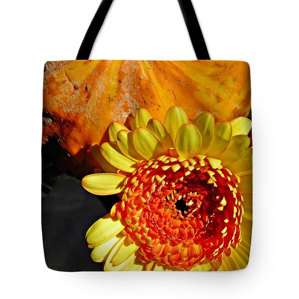 Beauty And The Squash 2 Tote Bag by Sarah Loft