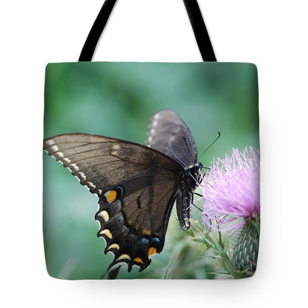 Beauty And Thistle Tote Bag