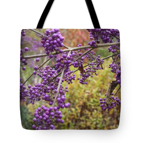 Beauty Berries In The Fall Tote Bag