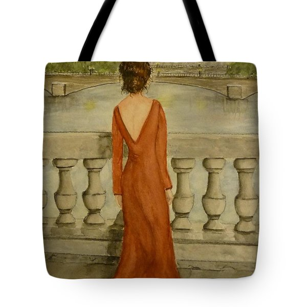 Tote Bag featuring the painting Beauty In Paris by Kelly Mills