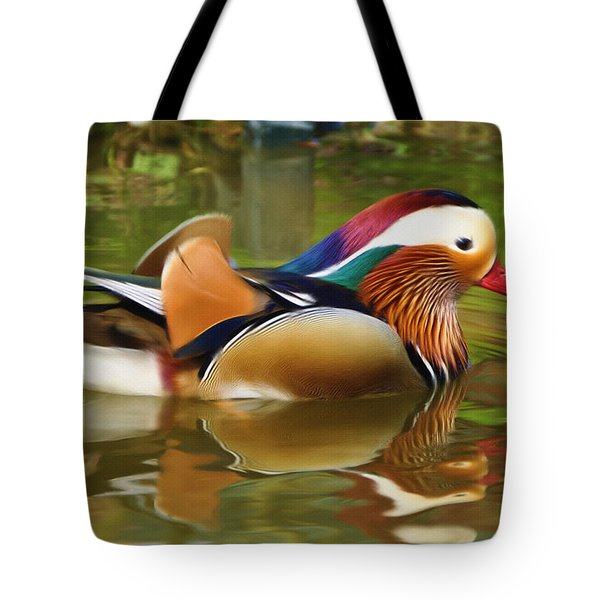 Beauty In The Pond Tote Bag by Ayse Deniz