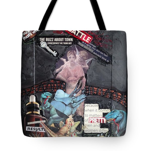 Beauty Inside Not A Bottle Tote Bag by Lisa Piper