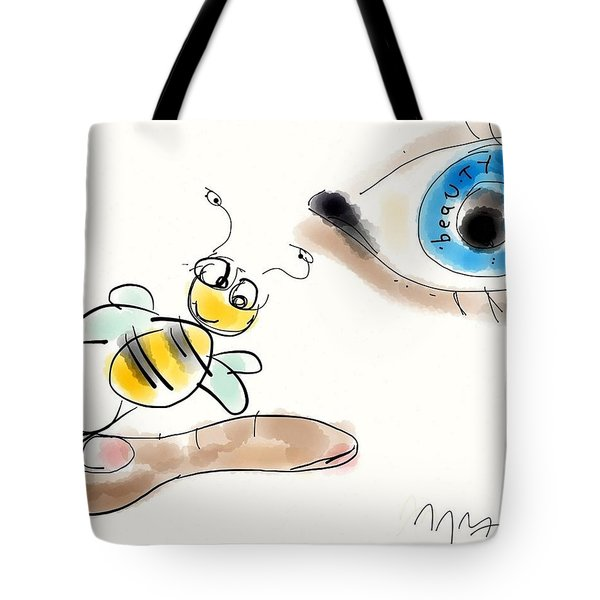 Beauty Is In The Eye Of The Beholder Tote Bag by Jason Nicholas
