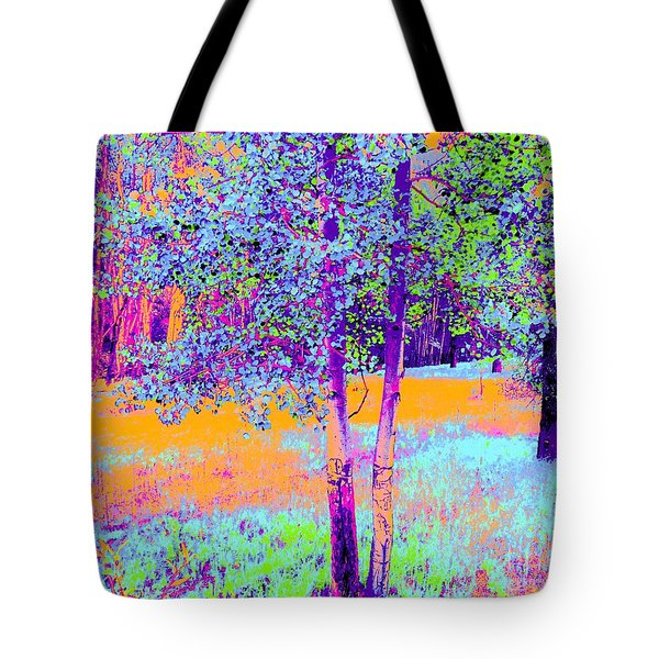 Beauty Of An Aspen Grove Tote Bag by Ann Johndro-Collins