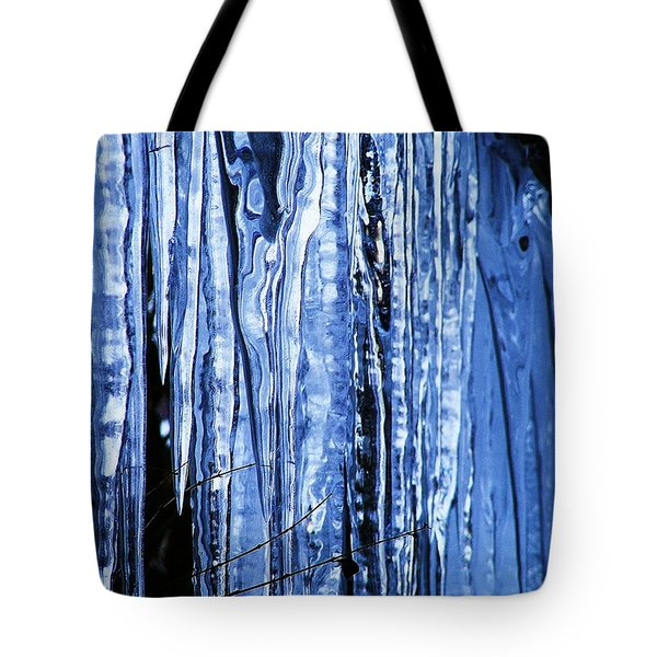 Beauty Of Ice Tote Bag by James McAdams