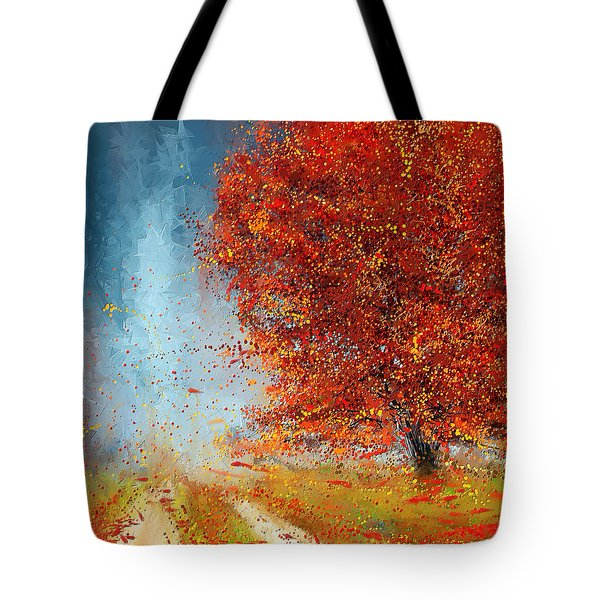 Beauty Of It- Autumn Impressionism Tote Bag