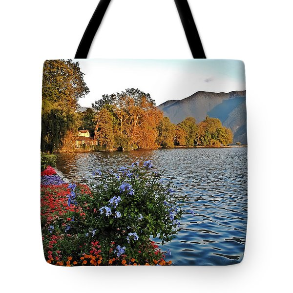 Beauty Of Lake Lugano Tote Bag