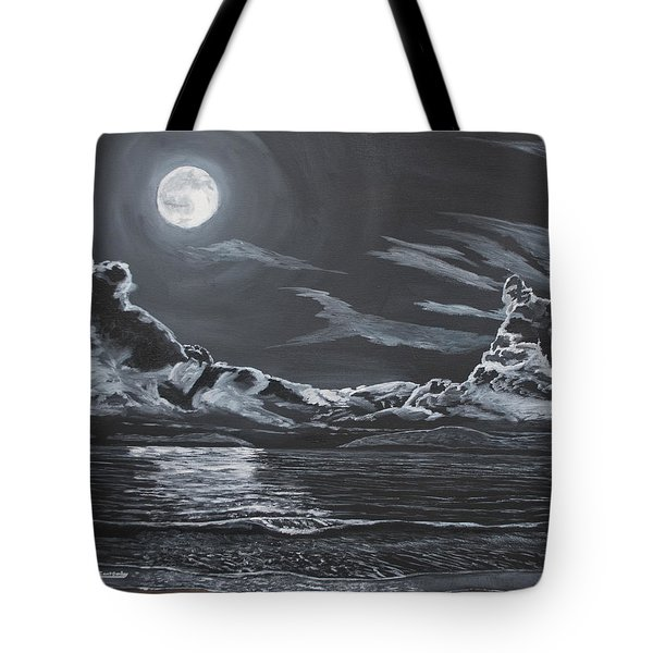Tote Bag featuring the painting Beauty Of The Night by Ian Donley