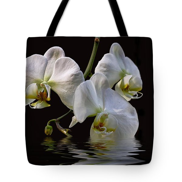 White Orchids Tote Bag