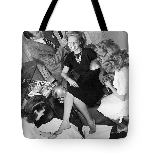 Beauty Salon Glamorizing Tote Bag by Underwood Archives