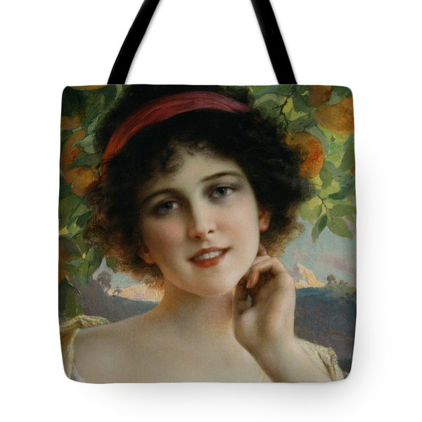 Beauty Under The Orange Tree Detail Tote Bag