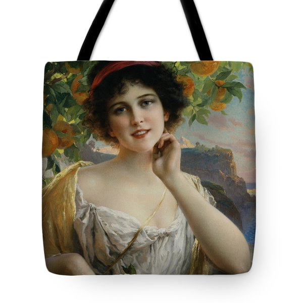 Beauty Under The Orange Tree Tote Bag