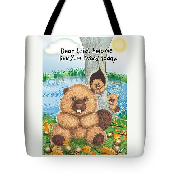 Beaver Tote Bag by Jerry Ruffin