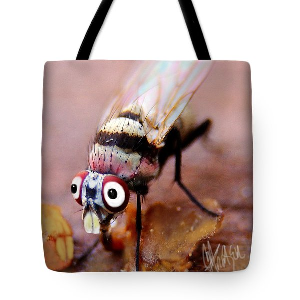 Tote Bag featuring the photograph Beaver Tooth Fly by Chris Fraser