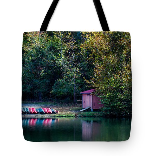 Beavers Bend Reflection Tote Bag
