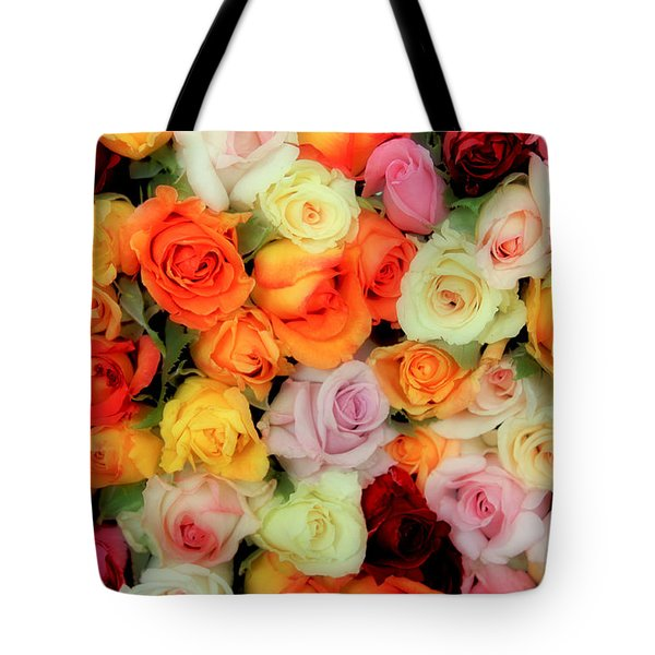Bed Of Roses Tote Bag by Tony Grider