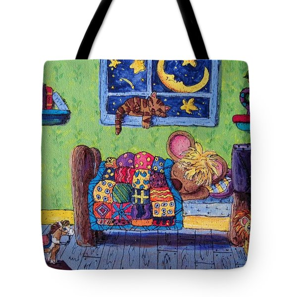 Bedtime Mouse Tote Bag by Megan Walsh