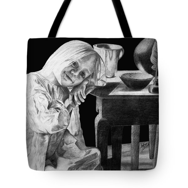 Tote Bag featuring the drawing Bedtime by Sophia Schmierer