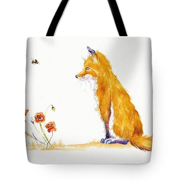 Bee A Summer Fox Tote Bag