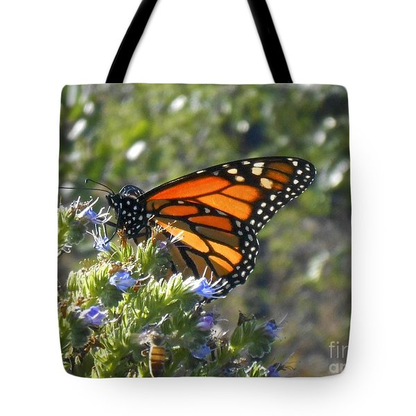 Bee And Monarch  Tote Bag