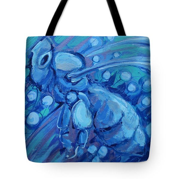 Bee Blue Tote Bag