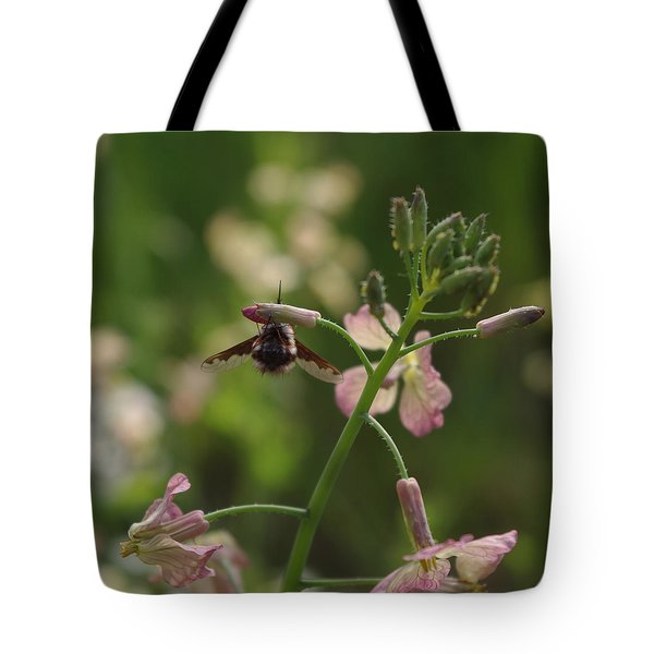Pink Mustard Flower Tote Bag by Adria Trail