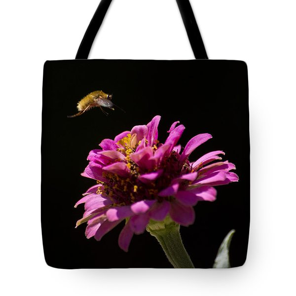 Bee Fly In Flight Tote Bag by Shelly Gunderson