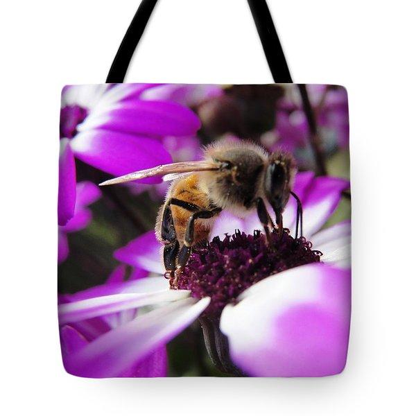 Bee Happy Tote Bag by Norma Brock