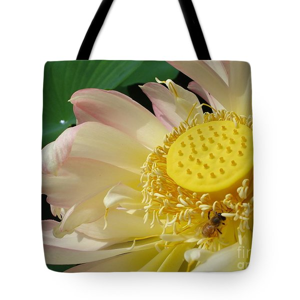 Tote Bag featuring the photograph Bee by Jane Ford