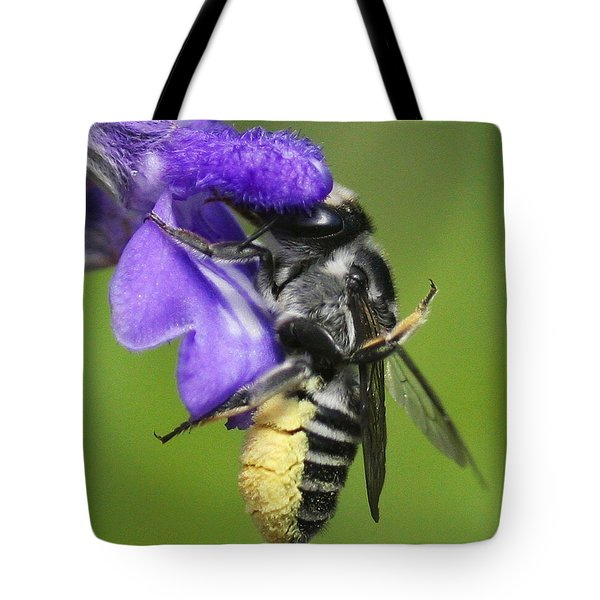Bee-licious Flower Tote Bag
