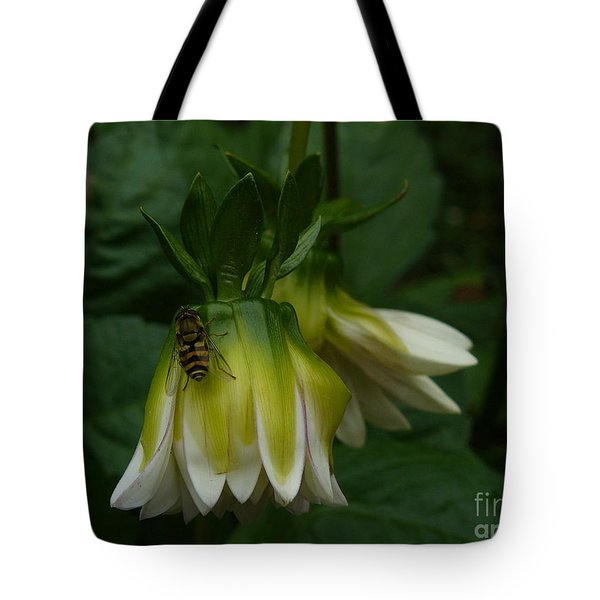 Tote Bag featuring the photograph Bee On Flower by Jane Ford