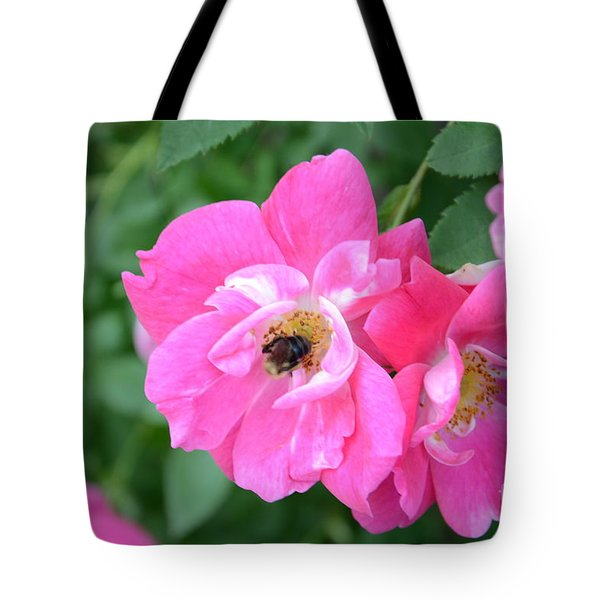 Bee Rosy Tote Bag