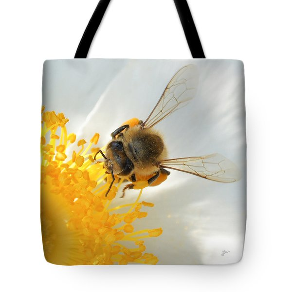 Tote Bag featuring the photograph Bee-u-tiful Squared by TK Goforth