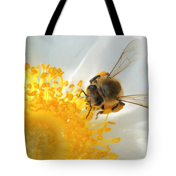 Tote Bag featuring the photograph Bee-u-tiful by TK Goforth