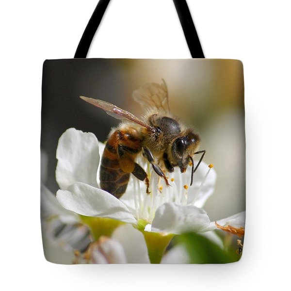 Tote Bag featuring the photograph Bee4honey by Patrick Witz