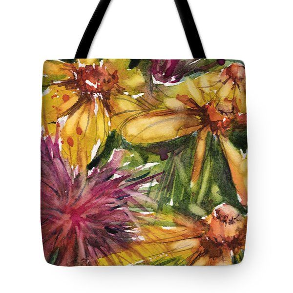 Beebalm And Heliopsis Tote Bag