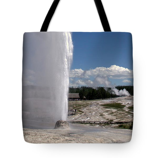 Beehive Geyser - Yellowstone National Park Tote Bag by Brian Harig