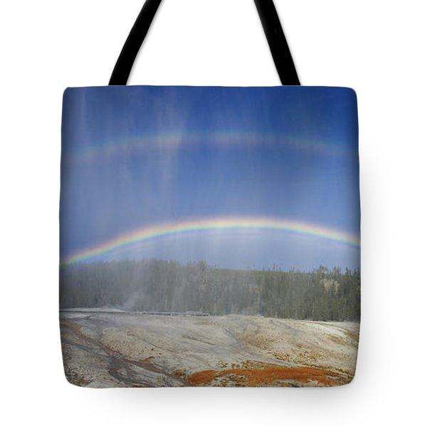 Beehive's Double  Rainbow Tote Bag