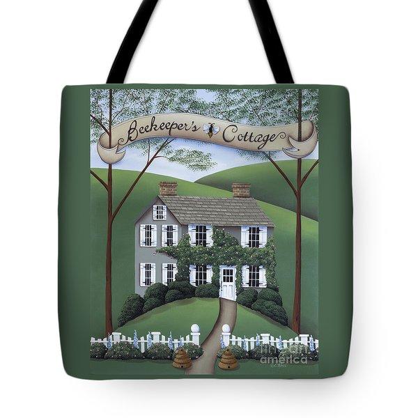 Beekeeper's Cottage Tote Bag by Catherine Holman