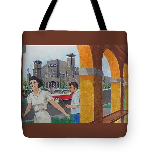 Been Skating At The Roller Rink Davis Islands Coliseum Late 50s Early 60s Tote Bag by Frank Hunter