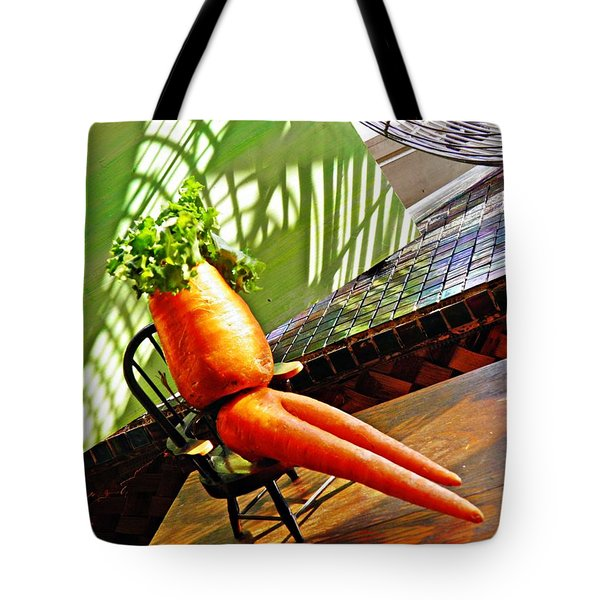 Beer Belly Carrot On A Hot Day Tote Bag