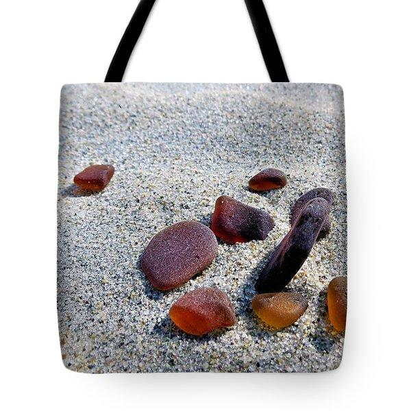 Beer Bottle Sea Glass Tote Bag